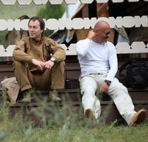 Руслан Байсаров со своим другом Фёдором Бондарчуком