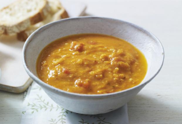 Крем-суп с горохом и беконом фото