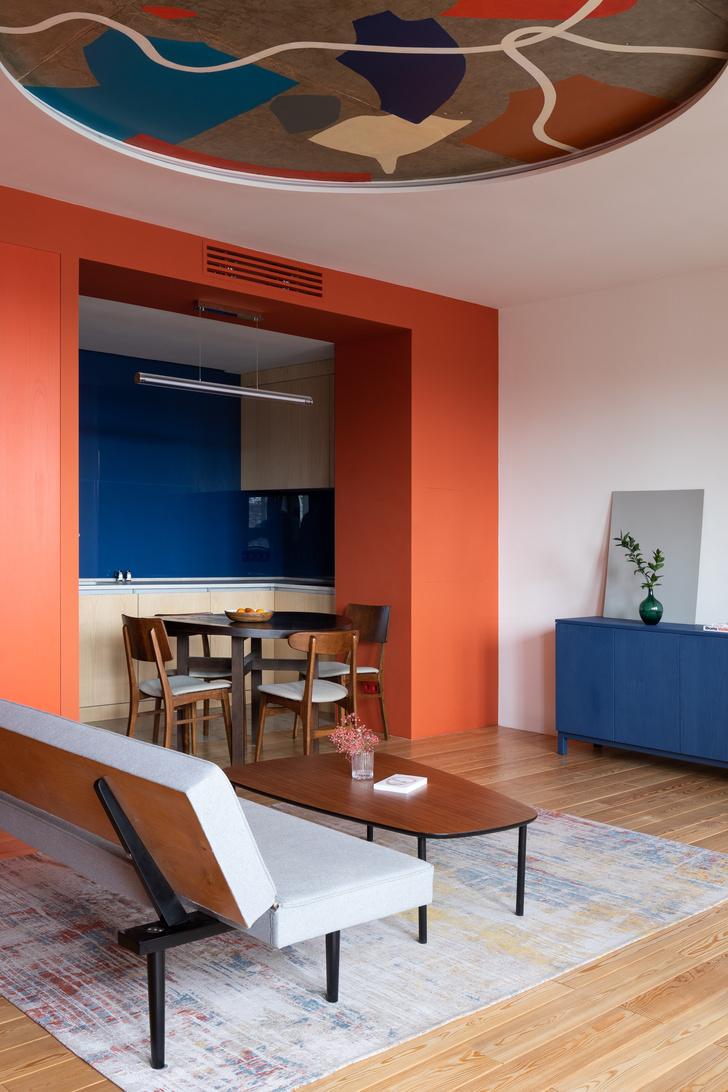 Фото №3 - Яркая квартира 70 м² для молодой пары в Москве
