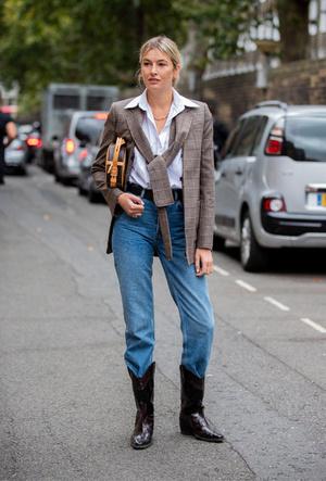 Фото №5 - С чем носить ковбойские сапоги: на каждый день, в офис и на вечеринку