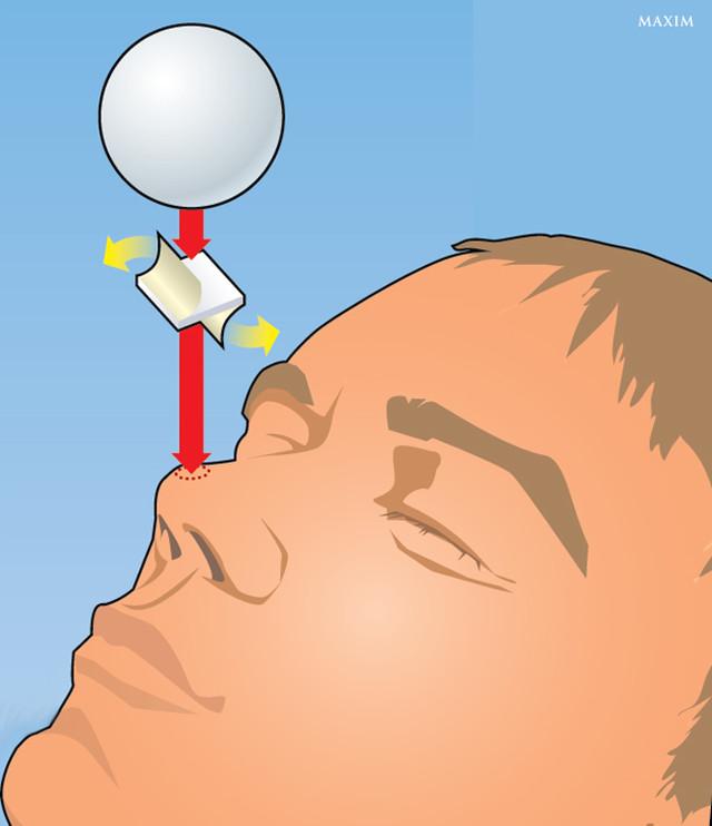 Фото №1 - Легкий фокус: как удержать мячик для пинг-понга на носу