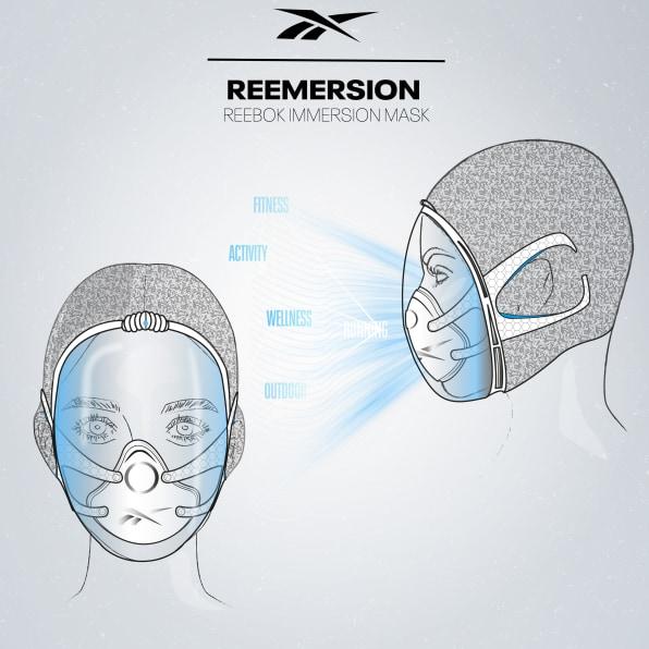 Фото №2 - Reebok показал концепт противовирусной маски для спорта и плавания со мхом вместо фильтра