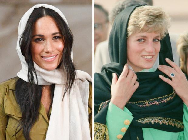 Фото №1 - Эксперты: герцогине Меган пора перестать копировать принцессу Диану