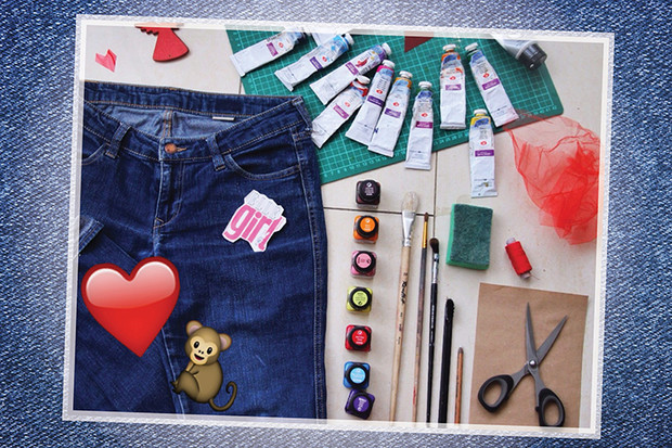 Фото №1 - Hand-made: Джинсы с сердечками