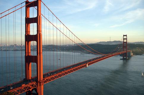 Знаменитый мост Золотые Ворота