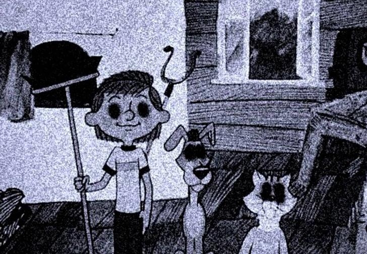 Фото №1 - Что получится, если детские книжки и мультики представлять как мистические хорроры