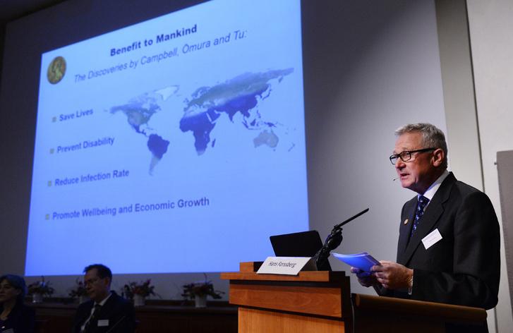 Фото №1 - Нобелевская премия по медицине и физиологии вручена за лекарства от паразитов и малярии