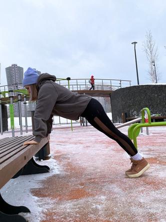 силовые тренировки на улице зимой