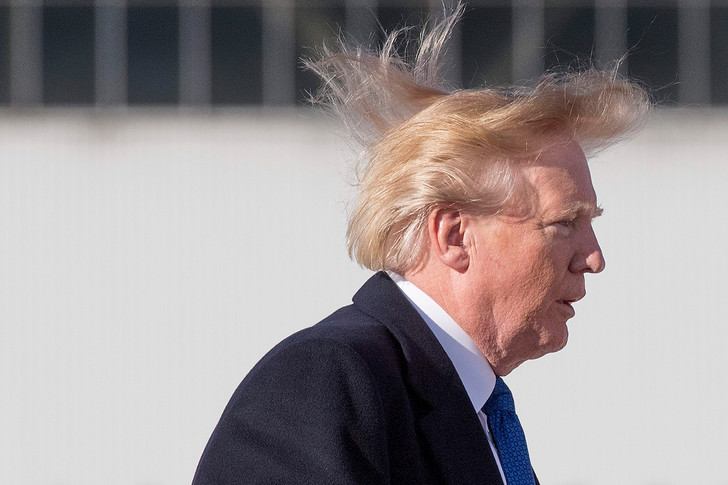 Фото №2 - Что было не так с волосами Трампа