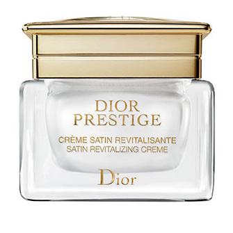 Восстанавливающий крем для лица Crème Satin Revitalisante, Dior Prestige, содержит молекулы-антиоксиданты из гранвильской розы.