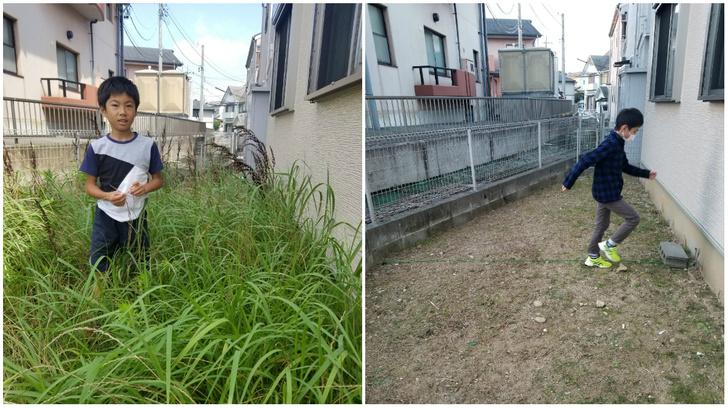 Фото №1 - Мальчик победил сорняки на заднем дворе, бегая по ним каждый день по полчаса