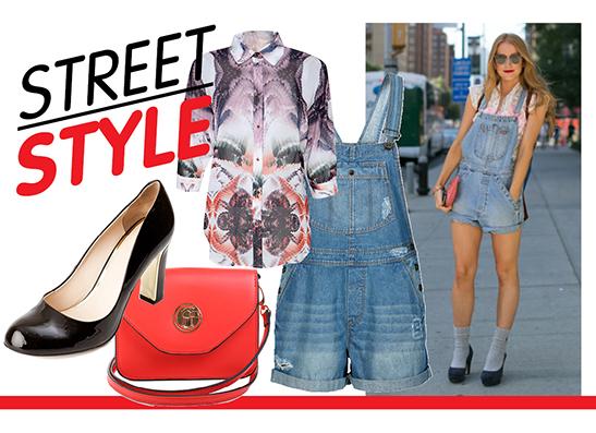Фото №1 - Street Style: джинсовый комбинезон