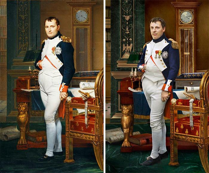 Фото №1 - Фотограф воссоздал портреты исторических личностей с их прямыми потомками: 9 лучших работ