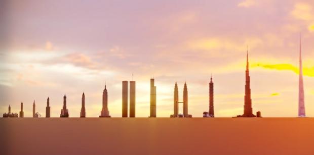 Фото №1 - Самые высокие здания в мире с 1901 по 2022 год (видео)