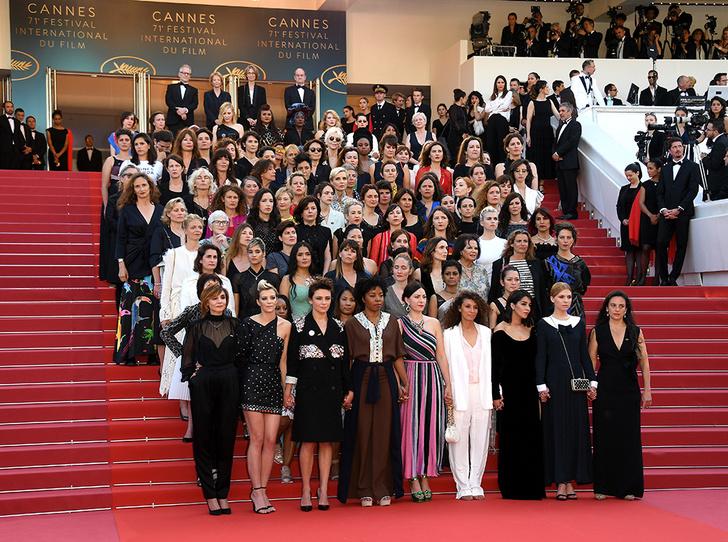 Фото №2 - Канны-2018: женский протест и самые яркие звездные образы пятого дня кинофестиваля