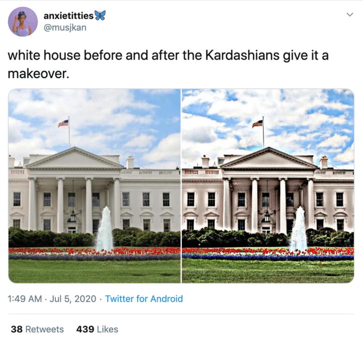Фото №3 - В соцсетях представляют, как будет выглядеть Белый дом во время президентства Канье Уэста (галерея)