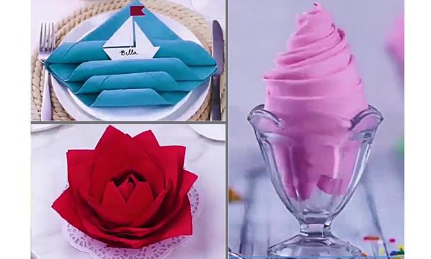 Фото №1 - 8 способов красиво и просто свернуть салфетки для праздничного стола (видео)