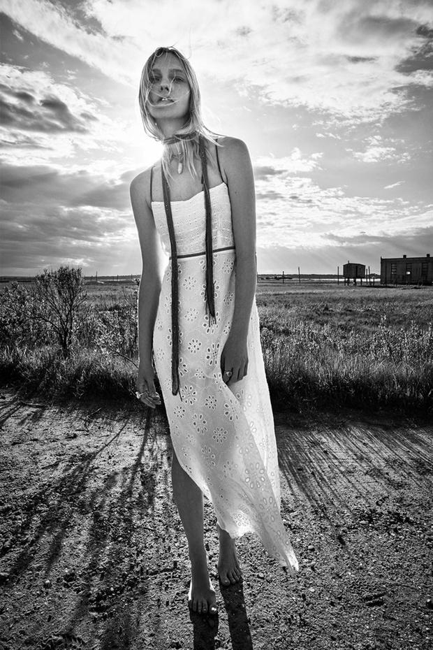 Фото №4 - Российская супермодель Саша Пивоварова в чарующей белоснежной рекламной кампании Zara