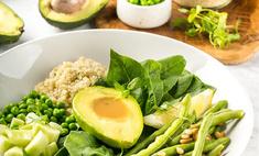 Большой зеленый салат