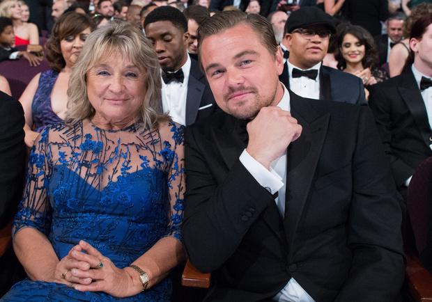 Леонардо Ди Каприо с матерью Ирмелин