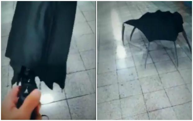 Фото №1 - Аниматор из Новосибирска создал вирусное видео про превращение обычного зонта в зонт-монстр