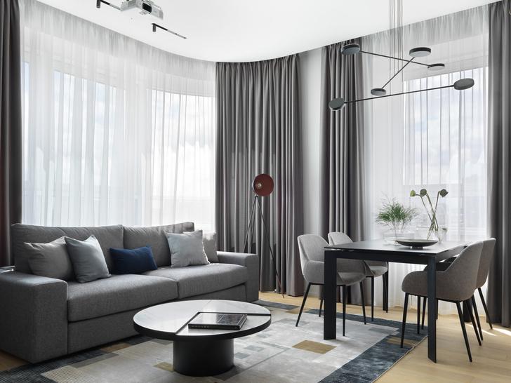 Фото №1 - Монохромная квартира 57 м² для молодой пары в Москве