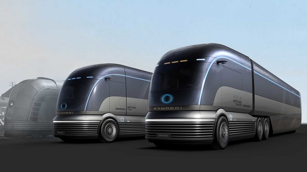 Фото №1 - Концепт тягача на водороде от Hyundai (галерея)