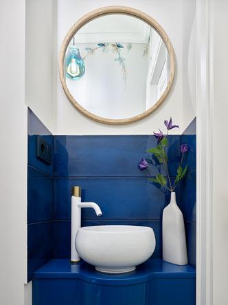 Фото №12 - Трехкомнатная квартира в оттенках синего цвета