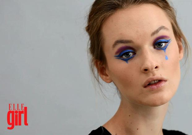 Фото №1 - Beauty-уроки Elle Girl: Макияж Арлекина на Хэллоуин