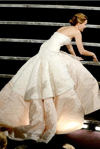 «Оскар»-2013: падение Лоуренс в белом