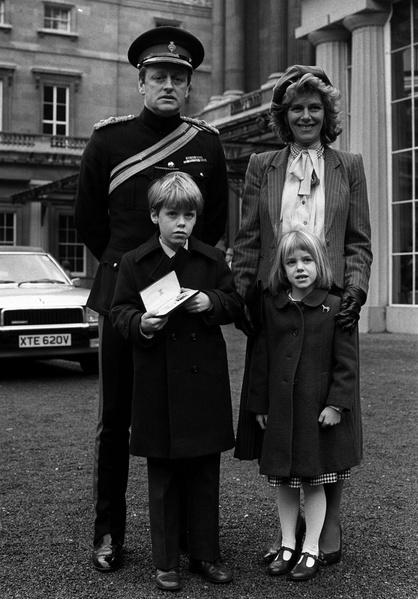 Камилла Паркер Боулз с семьей