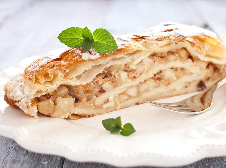 Фото №1 - Рецепты осени: яблочный штрудель