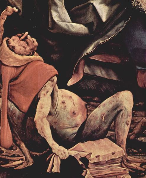 Часть створки Изенгеймского алтаря, Маттиас Грюневальд, 1506–1515 гг.