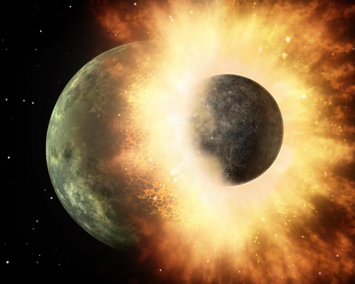 Фото №1 - Луна могла возникнуть в результате столкновения Земли с планетой Тейя