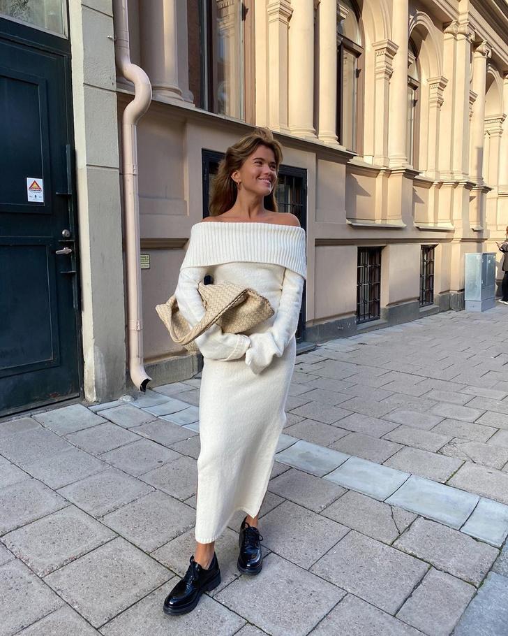 Фото №1 - С чем носить трикотажное платье, пока на улице тепло: показывает Матильда Джерф