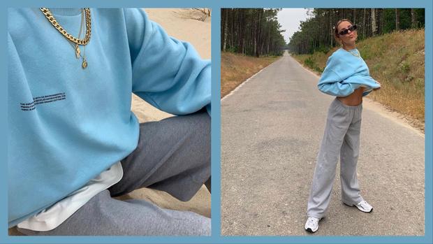 Фото №1 - Новое модное сочетание— серый + «осознанный» голубой: доказывает стилист София Коэльо