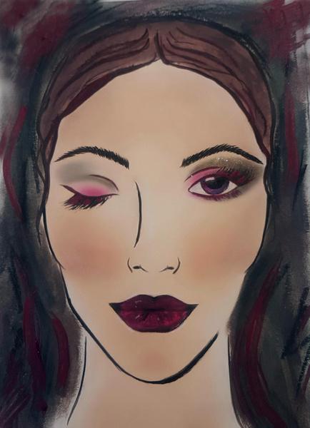 Фото №3 - Этюд в бордовых тонах: осенний макияж по правилам Givenchy