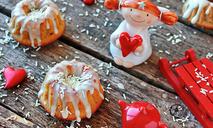 Миндальные кексы из творога