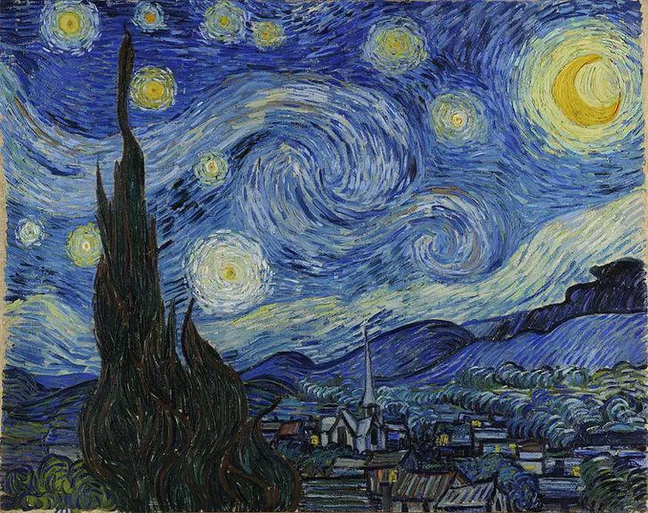 Фото №1 - Сначала 20 секунд смотри на этот узор, а потом на картину Ван Гога (видео)