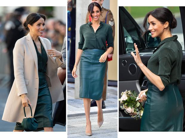Фото №1 - 10 кожаных юбок как у Меган Маркл, которые сочетаются со всем