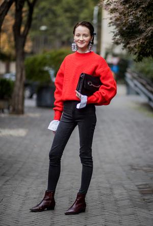 Фото №13 - С чем носить джинсы скинни сегодня: модные советы и удачные сочетания