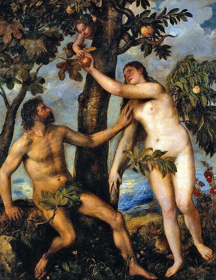 Фото №11 - Галерея: как изображали Адама и Еву последние  2000 лет
