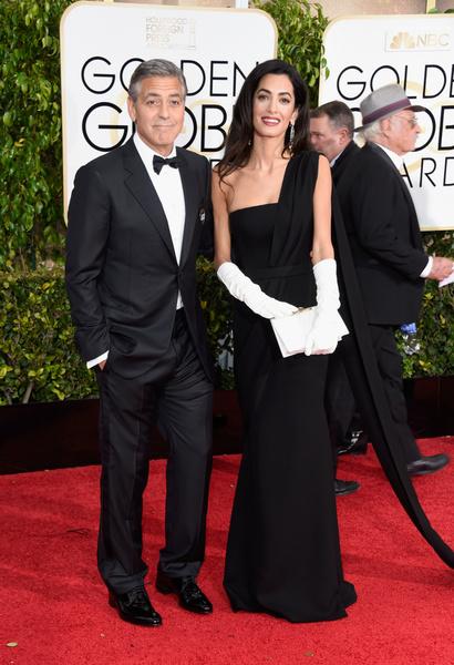 Джордж и Амаль Клуни золотой глобус 2015