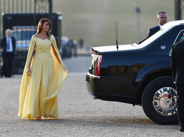 Фото №4 - Мелания Трамп «украла шоу» на гала-ужине в Бленхеймском дворце