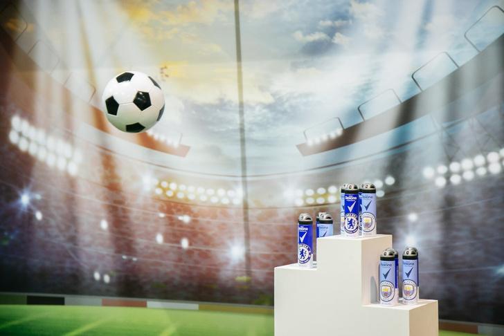 Фото №1 - Новый игрок в мужском уходе: футбольная Rexona с логотипами знаменитых английских клубов!