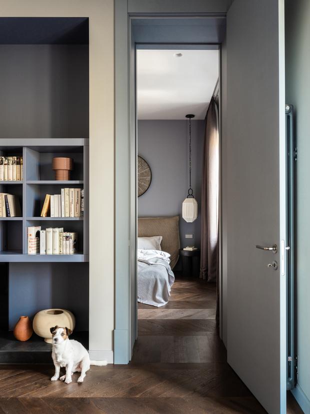 Фото №7 - Квартира с камином в нейтральных оттенках 66 м²