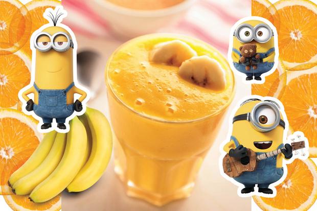 Заводной апельсиновый банана шейк