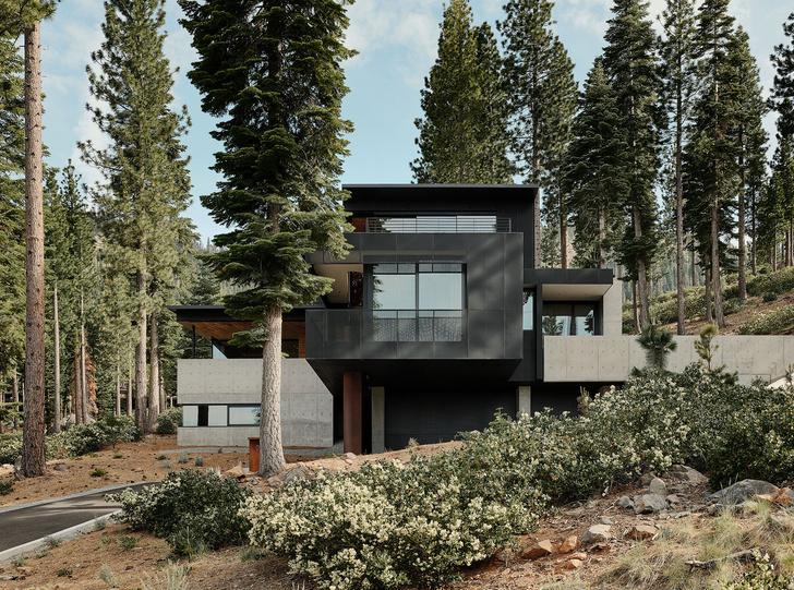 Фото №1 - Модернистский дом на горнолыжном курорте в Калифорнии