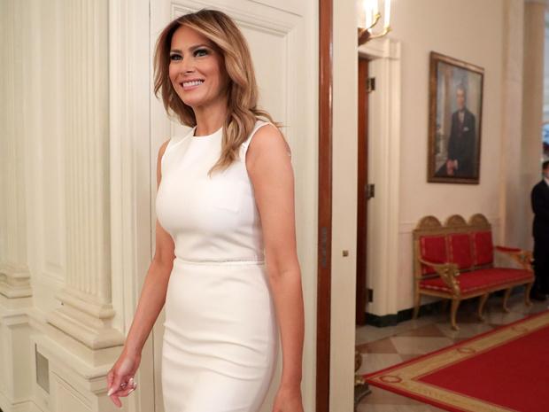 Фото №1 - Королева бала: Мелания Трамп на гала-вечере— в роскошном платье и под руку с мужем