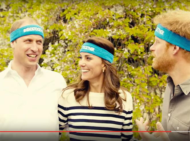 Фото №1 - Новое забавное видео Кейт Миддлтон с принцем Уильямом и принцем Гарри